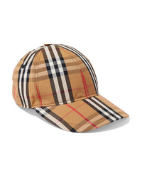 Burberry Checked Cotton Canvas Baseball Cap