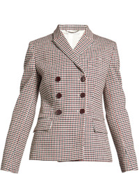 Stella McCartney Olivia Double Breasted Checked Blazer