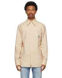 Gucci Brown Mini Check Oxford Shirt