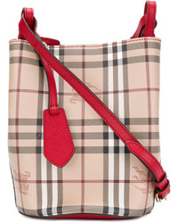 Burberry Haymarket Check Bucket Bag