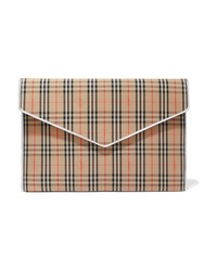 Burberry Med Checked Cotton Drill Clutch
