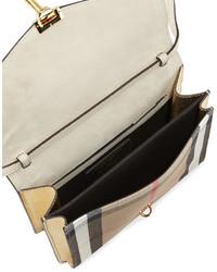 Burberry Macken Small Leather House Check Crossbody Bag Limestone ... 7e3a6ad6790c2