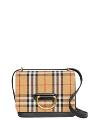 Burberry Small D Ring Leather Crossbody Bag