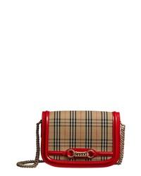 Burberry Vintage Check Link Flap Crossbody Bag