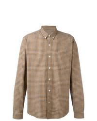 Tan Check Long Sleeve Shirt