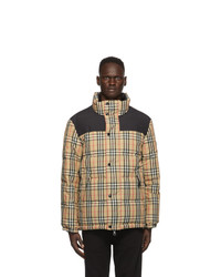 Burberry Beige Down Check Holland Jacket