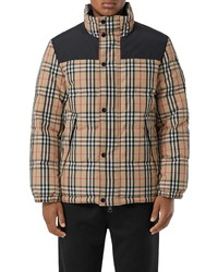 Burberry Reversible Vintage Check Down Puffer Coat
