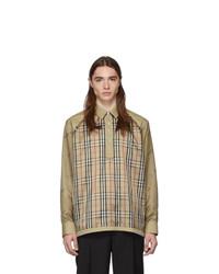 Burberry Beige Check Raglan Jacket