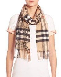 Tan Check Scarf