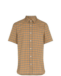 Burberry Check Print Buttoned Down Cotton Shirt