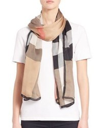 Burberry Mega Check Ultra Washed Satin Scarf