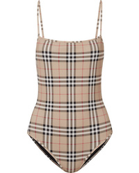 Burberry Checked Swimsuit