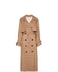 Golden Goose Deluxe Brand Vela Checked And Trench Coat