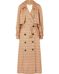 Golden Goose Deluxe Brand Vela Checked Twill Trench Coat