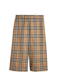 Burberry Vintage Check Wool Tailored Shorts