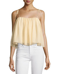Elizabeth and James Taura Tie Shoulder Crop Top
