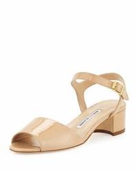 Affian patent chunky heel sandal medium 3697472
