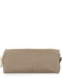 Neiman Marcus Demi Zip Pencil Pouch Smokey Taupe