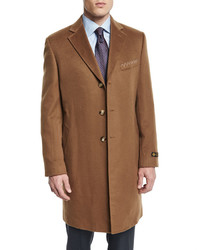 Neiman Marcus Cashmere Long Car Coat Camel