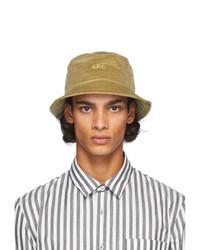A.P.C. Beige Corduroy Alex Bucket Hat
