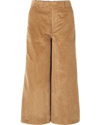 Elizabeth and James Oakley Cropped Cotton Corduroy Wide Leg Pants