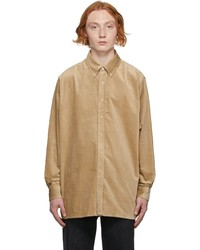 Acne Studios Beige Corduroy Shirt