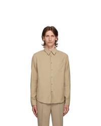 Kenzo Beige Corduroy Slim Fit Shirt