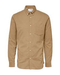 Selected Homme Oscar Slim Fit Mini Corduroy Shirt