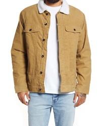 Vans Skylark Ii Cotton Corduroy Faux Shearling Trucker Jacket