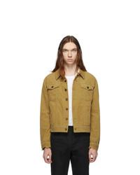 Saint Laurent Tan Corduroy Classic Jacket
