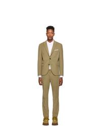 Neil Barrett Beige Corduroy Fitted Slim Suit