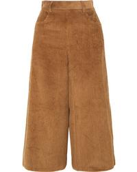 See by Chloe Cropped Cotton Blend Corduroy Wide Leg Pants