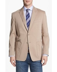Tan Cotton Blazer