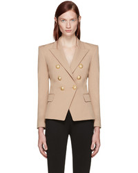 Balmain Beige Double Breasted Blazer
