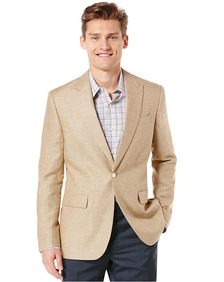 Perry Ellis Linen Blazer | Where to buy &amp how to wear