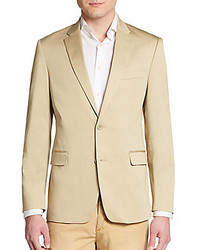 Regular fit stretch cotton sportcoat medium 256334