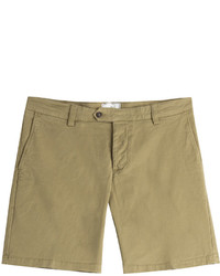Tan Cotton Shorts