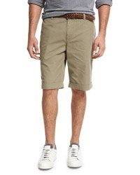 Brunello Cucinelli Flat Front Cotton Shorts