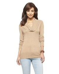 Tan cowl neck sweater original 3685844
