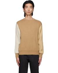 Comme Des Garcons SHIRT Beige Lochaven Of Scotland Edition Colorblocked Sweater