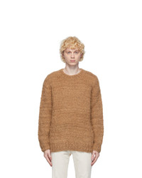 PRESIDENTs Brown Alpaca Hand Knit Sweater