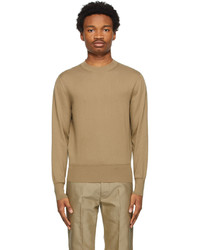 Tom Ford Brown Cotton Knit Sweater
