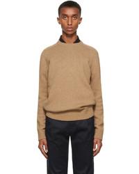 Saint Laurent Brown Wool Raglan Sweater
