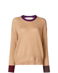 Marni Contrast Cuff Fitted Sweater