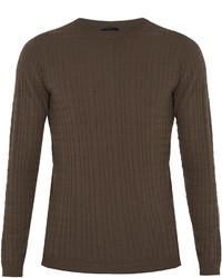 Giorgio Armani Crew Neck Wool Blend Sweater