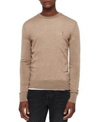 AllSaints Mode Slim Fit Merino Wool Sweater