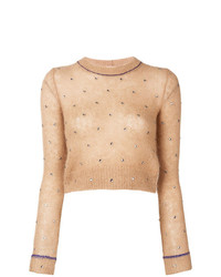 N°21 N21 Cropped Fitted Sweater