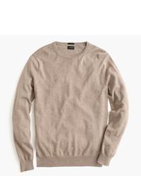 Slim cotton cashmere crewneck sweater medium 361456
