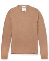Slim fit studded camel hair sweater medium 1343116
