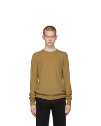 Bottega Veneta Tan Cashmere Logo Sweater